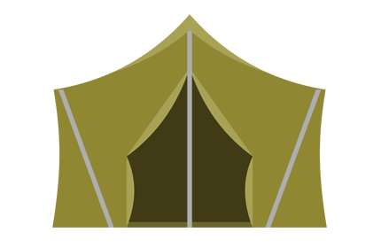 cabin shape of a tent