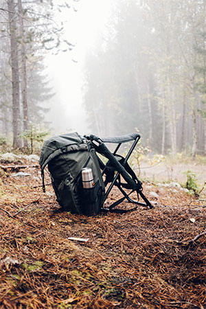 camping backpack made out of polyester